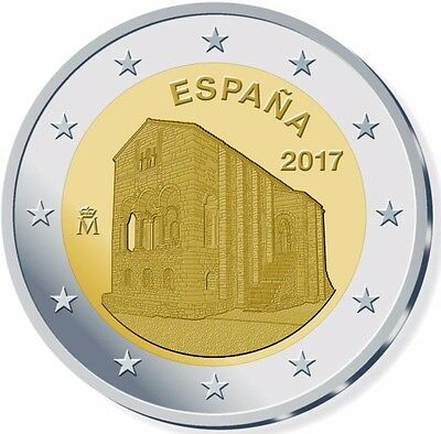 Preorder Spain 2 Euro Commemorative Coin - 2017 - Santa Maria Del Naranco