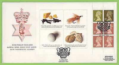 G.B. 1994 Northern Ireland booklet pane on Royal Mail FDC, Belfast