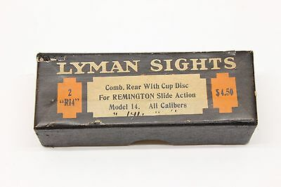 Lyman No. 2 Remington Model R-14 Excellent Empty 2pc Sight Box Very Scarce Minty