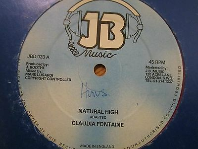 """RARE LOVERS HIT.  """"natural high""""    CLAUDIA FONTAINE"""