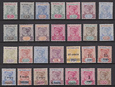 Seychelles !890-1902 28 Different Victorian mint stamps