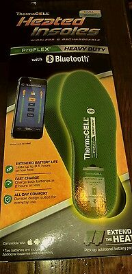 ThermaCELL ProFLEX Heavy-duty Heated Insoles with Bluetooth size small