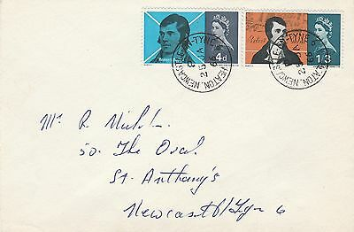 1966 GB Lister First Day Cover Newcastle Upon Tyne Postmark Ref: MT175