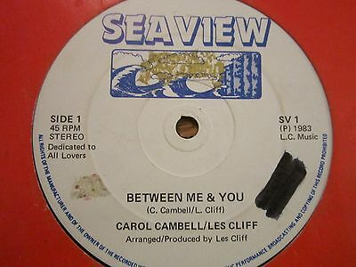 """RARE LOVERS HIT.  """"between me & you""""    CAROL CAMPBELL/LES CLIFF"""