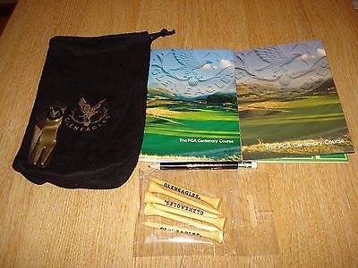 Gleneagles Tee/Valuables Bag c/w PFork Repairer/Ball Marker, Tees, Pencil, Guide