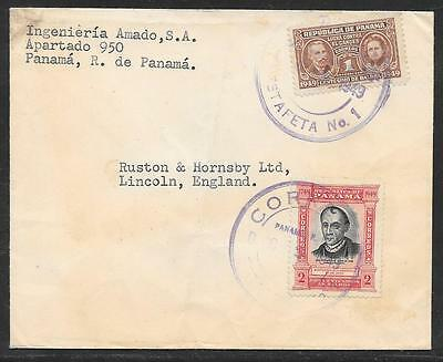 1949 Commercial Cover Panama - Uk