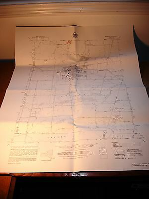 Rare Vtg Original NYSDOT Planimetric Map 1980 Brockport NY Quad 1:24000 Scale Ex