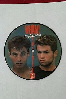 "Wham! - Club Tropicana - Blue - George Michael - 7"" Picture Disc - Unplayed"