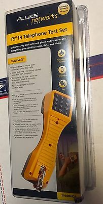 NEW Fluke Networks TS19 Telephone Test Set with ABN Clips 19800009