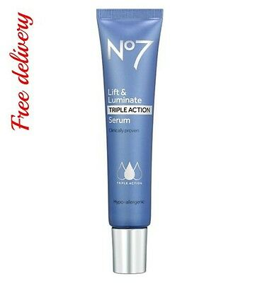 NEW BOOTS No7 LIFT & AND LUMINATE TRIPLE ACTION SERUM 30ml ANTI AGEING CREAM