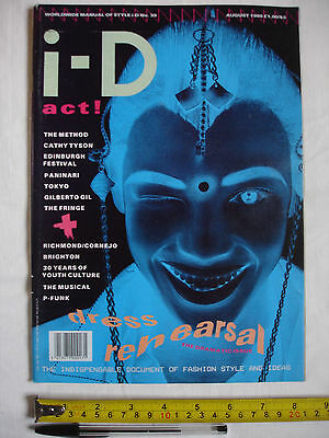 i.D. i-D ID Magazine Issue No.39 Aug 1986 - Naomi cover. The Dramatic Issue.