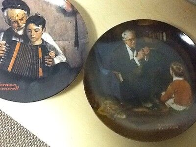 2 Vintage Norman Rockwell Heritage Collectors Plates