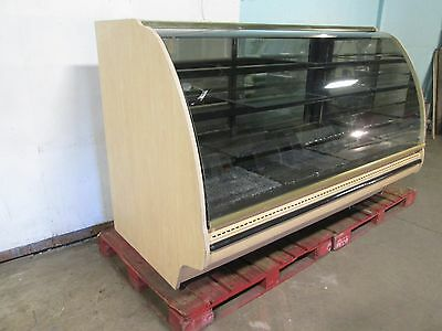 """structural Concepts"" Lighted Curved Glass Refrigerated Cake/bakery Display Case"