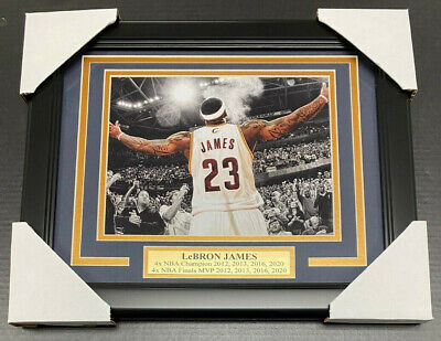 LEBRON JAMES BLOWING Chalk Cleveland Cavilers Framed 8X10 Photo ...