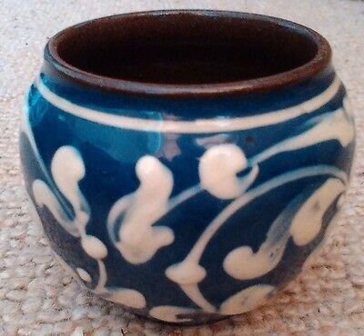 Blue and cream HM Hart & Moist Exeter - chic small pot