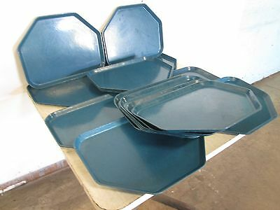 "Lot Of (17) ""continental/silite"" H.d. Commercial Docking Cafeteria Serving Trays"