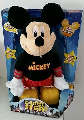 Fisher Price Dance Star Mickey Mouse Interactive Games Music Disney Gift Toy New
