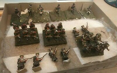 JOBLOT VINTAGE 25mm PAINTED napoleonic RUSSIAN PRUSSIAN INFANTRY spares
