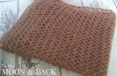 Brown Newborn Knit Mohair Wrap Super Soft Baby Photo Photography Prop
