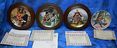 Lot Of 3 Edwin Knowles Collectors China Plates In Woodridge Display Frames