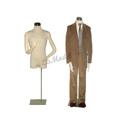 Male Body Dress Form, Mannequins Body Dress  Form with two flexible arms