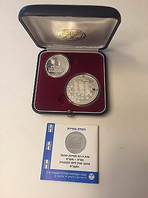 1998 Israel 50th Anniversary of Israel 2 Coin Silver .925 Commemorative Set