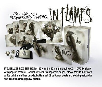IN FLAMES Sounds of a playground fading BOXSET BOX CD DVD puzzle limited edition