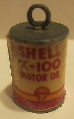 Shell Oil Co. Miniature Oil Can Pendent