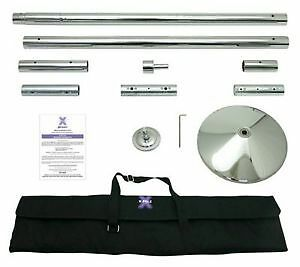 X-Pole Xpert (NX) 45mm Chrome + 3 Extensions, Excellent Condition