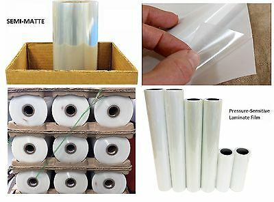 "Any Purpose Clear Laminating Cold Semi-Matte Laminate Vinyl Film Roll 43"" x 150'"