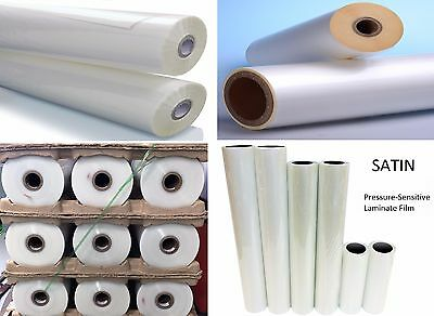 "Any Purpose Clear Laminating Cold Satin UV Laminate Film Roll 25"" x 150' (Qty2)"