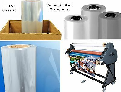 """Any Purpose Clear Laminating Cold Gloss UV Laminate Film Roll 25"""" x 150' (Qty2)"""