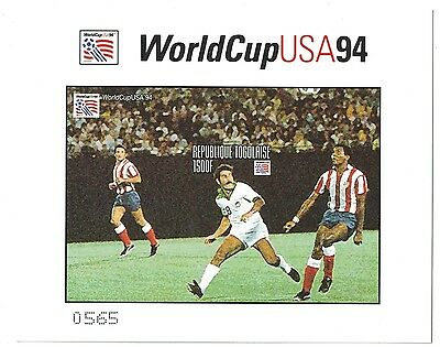 Togo - 1994 World Cup Soccer - Sc 1611 S/S MNH IMPERFORATE thk paper