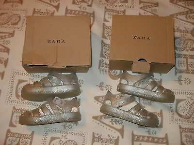 TWIN SALE Zara cage sandals size 5 twin girls shoes jelly