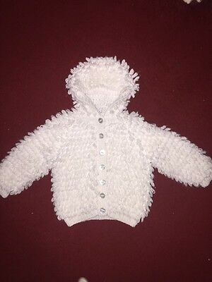 White Sweater Hoodie For Girls 18-24 Months