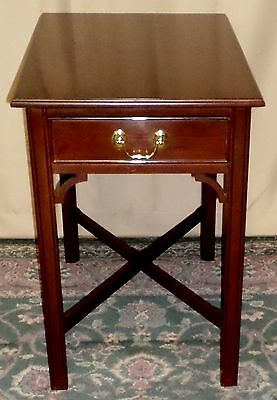 HARDEN CHERRY END TABLE Side, Lamp Table With Single Drawer VINTAGE