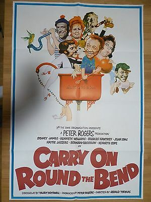 CARRY ON ROUND THE BEND (1971) - original UK ONE SHEET film/movie poster
