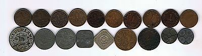 19 different coins from the Netherlands : 1878 - 1943