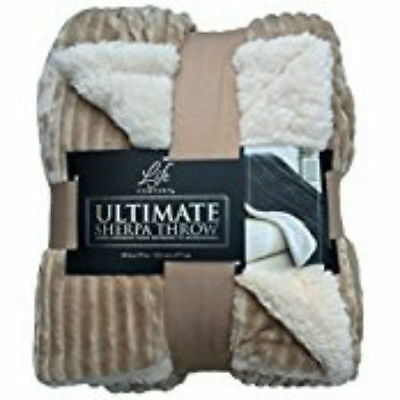 """NEW Life Comfort WARM ULTRA SOFT Ultimate SHERPA THROW BLANKET OVERSIZED 60""""x70"""""""