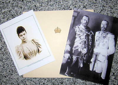 Elizabeth, Queen Mother - Signed Christmas Card  to Xenia of Russia