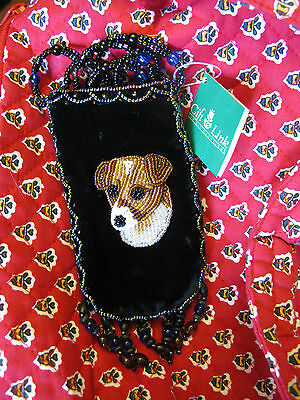 NWT JACK RUSSELL TERRIER BEADED DOG Mini BAG valentines gift