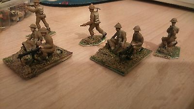 VINTAGE ESCI 1/72 20mm WW2 BRITISH MMG SECTION PAINTED BASED INFANTRY