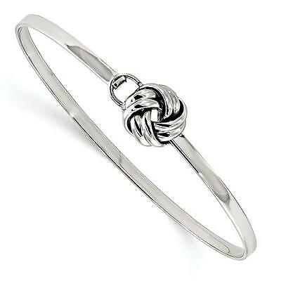 Sailor Nautical Love Knot Infinity Stainless Steel Cable Wire Bangle