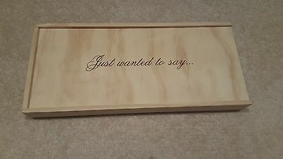 Wooden Gift Box - Just to say