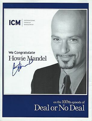 Howie Mandel signed Magazine Page - Host of Deal or No Deal