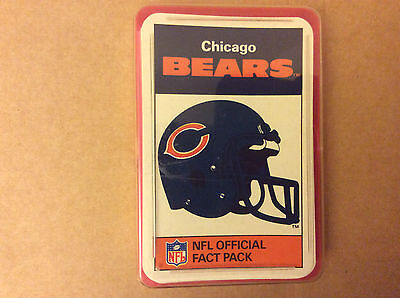 Chicago Bears NFL Official Fact Pack 1987 Excellent condition