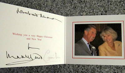 Prince Charles &   Camilla - RARE - Signed in ink -  Photo Card