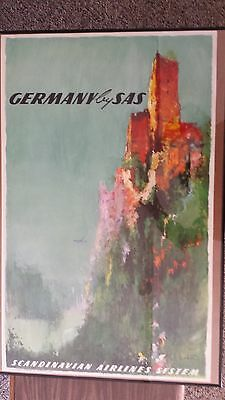 SAS Scandinavian Airlines Original Poster for GERMANY