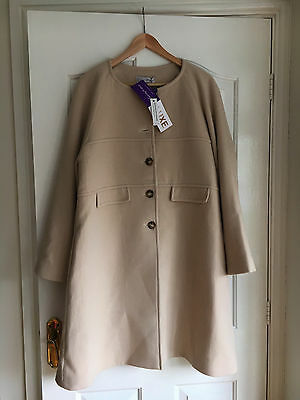 Seraphine Luxe Blush Wool & Cashmere Maternity Coat, Size 12 BNWT NEW RRP £159