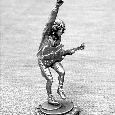Ac/dc -  Angus Young - Beautiful Detailed Tin Metal Figure - Mint